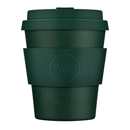 Ecoffee Cup Leave it out Arthur - Bamboo Cup - 250 ml - with Dark Green Silicone