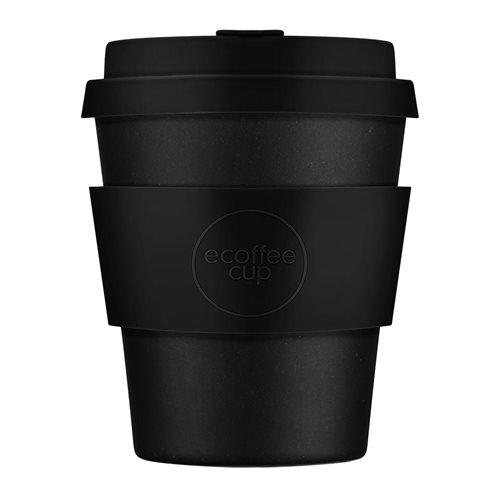Ecoffee Cup Kerr & Napier - Bamboe Beker - 250 ml - met Zwart Siliconen