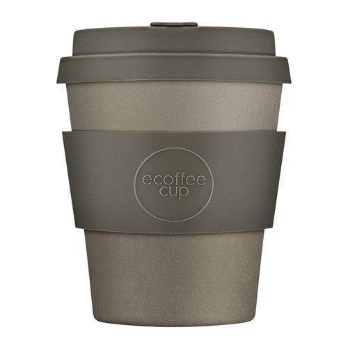 Ecoffee Cup Molto Grigio - Bamboe Beker - 250 ml - met Grijs Siliconen