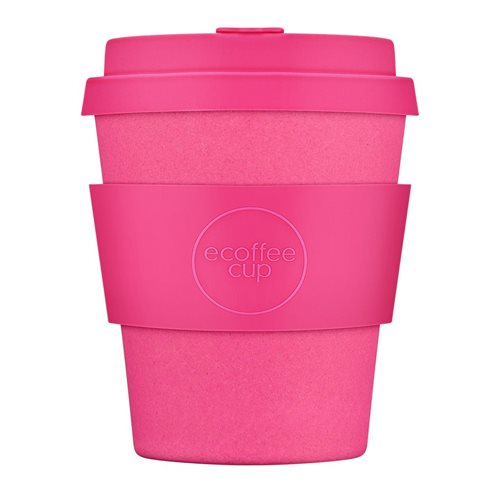 Ecoffee Cup Pink'd - Bamboo Cup - 250 ml - with Pink Silicone
