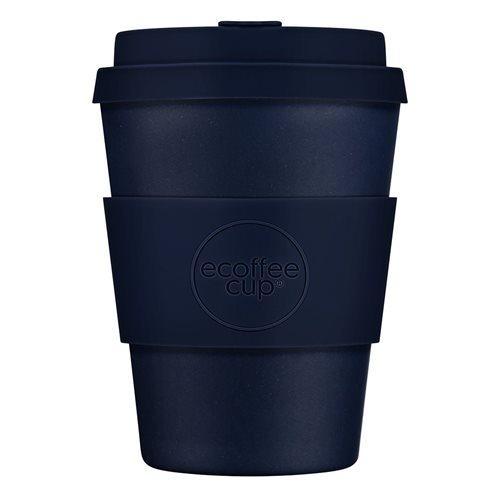 Ecoffee Cup Dark Energy - Bamboe Beker - 350 ml - met Donkerblauw Siliconen