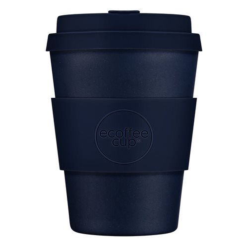 Ecoffee Cup Dark Energy - Bambus Becher to Go - 350 ml - mit Silikon Dunkel Blau