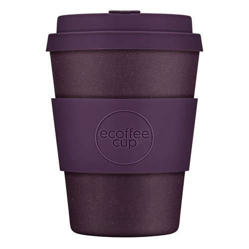 Ecoffee Cup Sapere Aude - Bamboo Cup - 350 ml - with Purple Silicone
