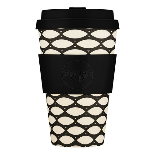 Ecoffee Cup Basket Case - Bamboo Cup - 400 ml - with Black Silicone