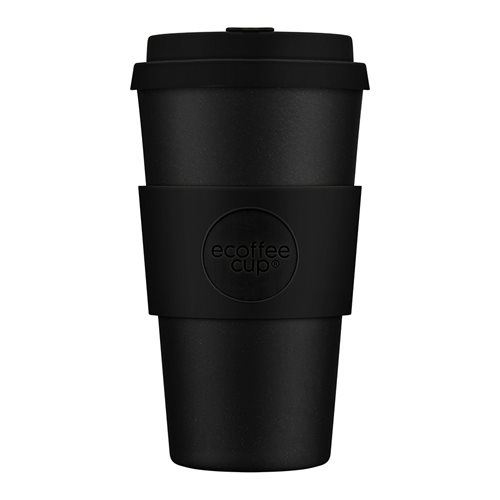 Ecoffee Cup Kerr & Napier - Bamboe Beker - 470 ml - met Zwart Siliconen