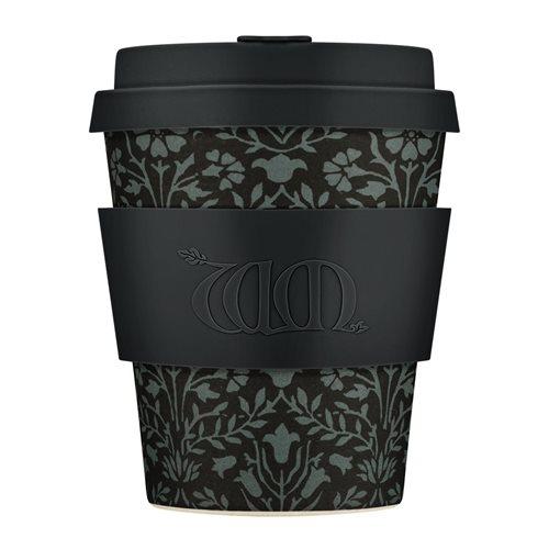 Ecoffee Cup Walthamstow - Bamboe Beker - 250 ml - William Morris - met Zwart Siliconen