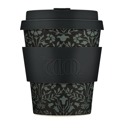 Ecoffee Cup Walthamstow - Bambus Becher to Go - 250 ml - William Morris - mit Silikon Schwarz