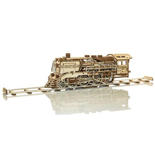 Wooden City Houten Trein met Rails - Houten Modelbouw