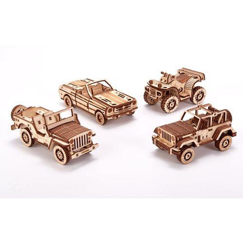 Wood Trick Set van Voertuigen - Houten Modelbouw