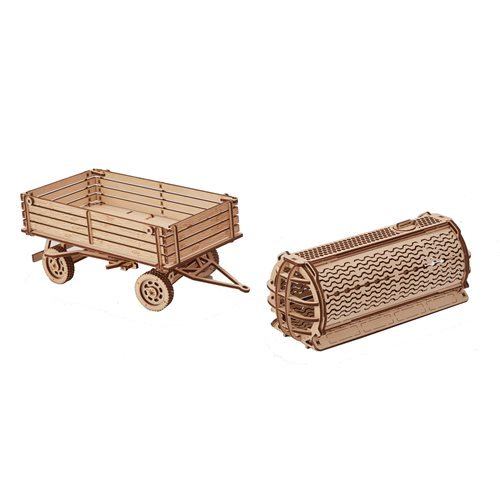 Wood Trick Wooden Model Kit - Trailer for Tractor