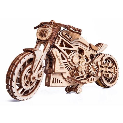 Wood Trick Wooden Model Kit - Motorcycle DMS