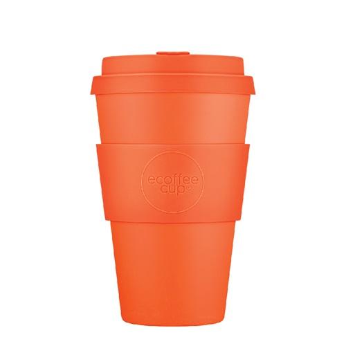 Ecoffee Cup Kingsday - Bamboe Beker - 400 ml - met Oranje Siliconen