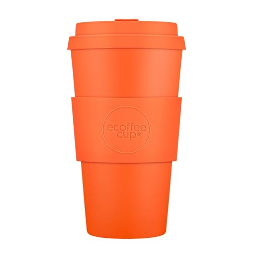 Ecoffee Cup Kingsday - Bamboo Cup - 470 ml - with Orange Silicone