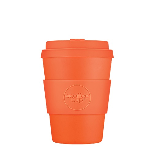 Ecoffee Cup Kingsday - Bamboo Cup - 350 ml - with Orange Silicone