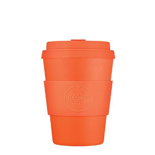 Ecoffee Cup Kingsday - Bamboe Beker - 350 ml - met Oranje Siliconen