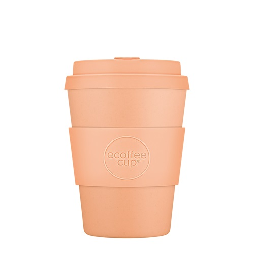 Ecoffee Cup Catalina Happy Hour - Bamboo Cup - 350 ml - with Pastel Orange Silicone