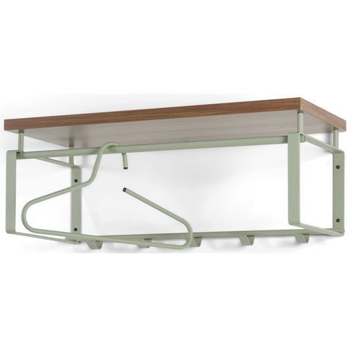 Spinder Design Rex 3 Wandgarderobe mit 5 Haken und Hutablage 70x29x28 - Olivgrün