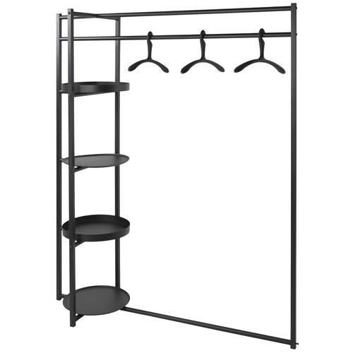 Spinder Design Roomba Coat Rack Stand 140x50x168 - Black