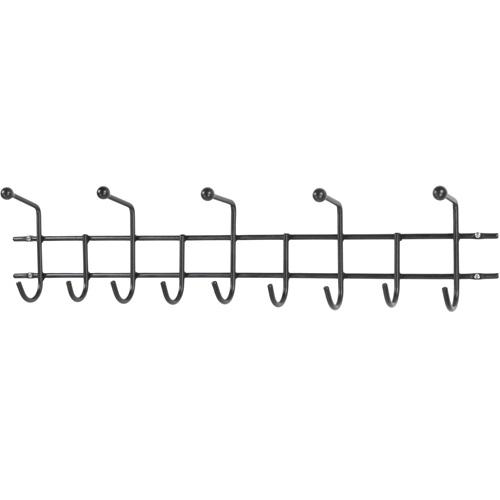 Spinder Design Barato 4 Wandgarderobe mit 14 Haken 85.5x8x11 - Schwarz
