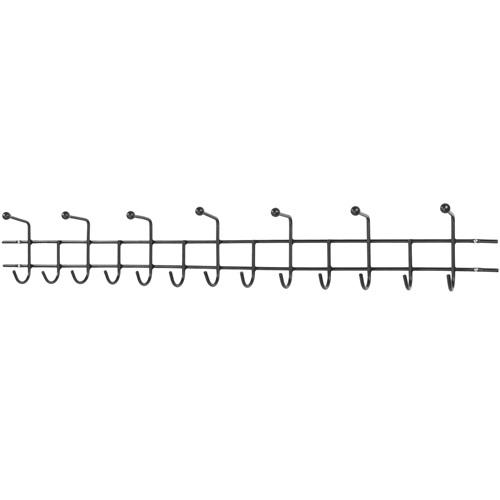 Spinder Design Barato 5 Wall Coat rack with 20 hooks 119x8x11 - Black