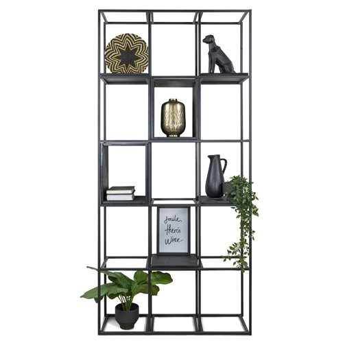 Spinder Design Labyrinth Wall Rack wit 15 compartments 95x29x200 - Black