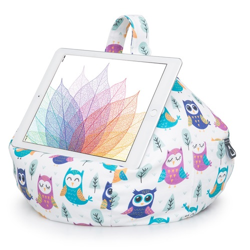 iBeani Multifunctional Bean Bag Tablet Stand - Owls