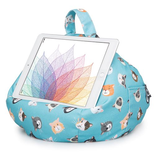 iBeani Multifunctional Bean Bag Tablet Stand - Cool Cats