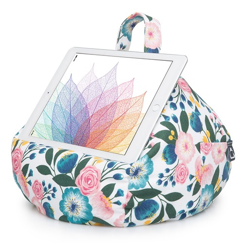 iBeani Multifunctional Bean Bag Tablet Stand - Floral