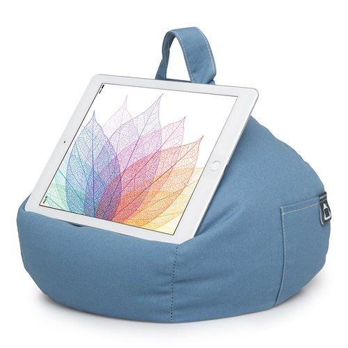 iBeani Multifunctioneel Tablet Kussen - Denim Blauw