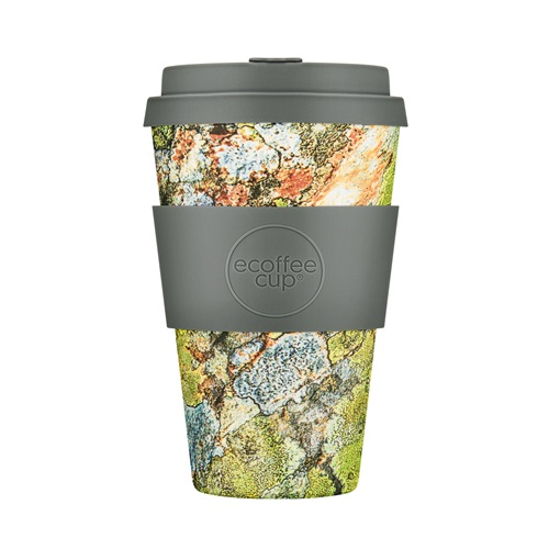 Ecoffee Cup Pillar Point - Bamboo Cup - 400 ml - with Grey Silicone