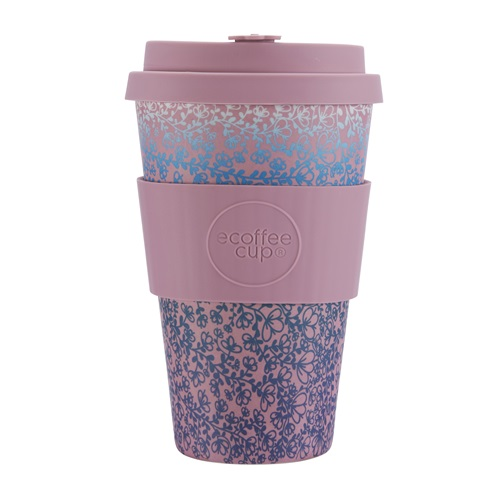 Ecoffee Cup Miscoso Quatro - Bamboo Cup - 400 ml - with Light Pink Silicone