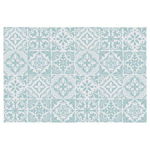Walplus Santa Rosa Pistachio Tile Sticker - Light Blue/White - 15x15 cm - 24 pieces