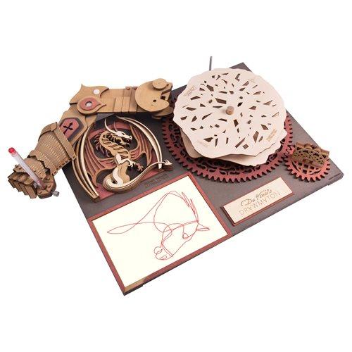 Robotime Da Vinci's Drawmaton The Slayer - Drawing Machine - Wooden Model Kit