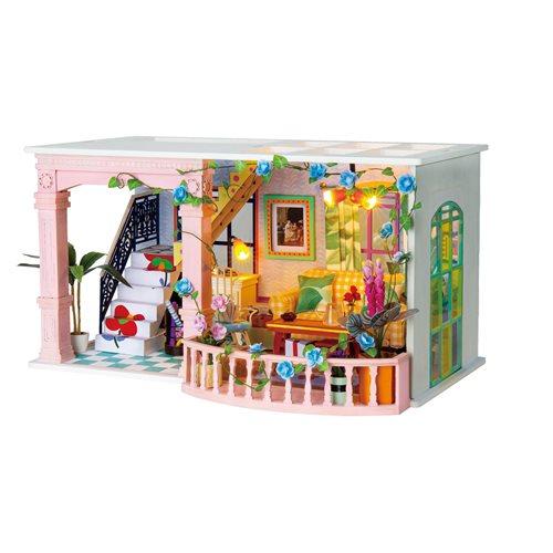 Robotime Süßer Patio DGF01 - Holzmodellbau - Puppenhaus mit LED-Licht - DIY