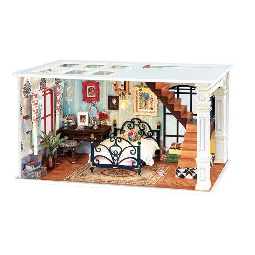Robotime Paris Mitternacht DGF02 - Holzmodellbau - Puppenhaus mit LED-Licht - DIY