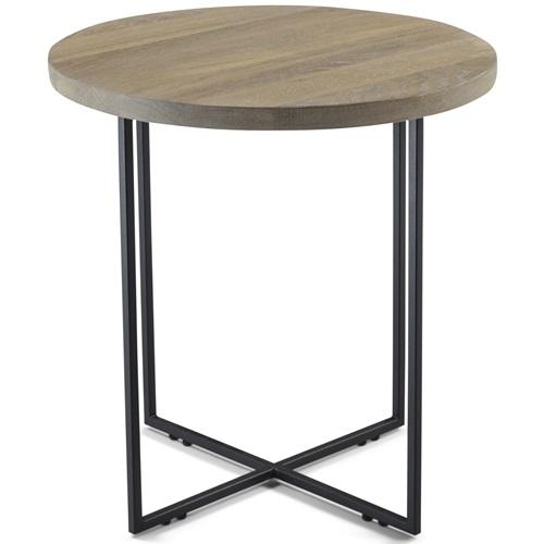 Spinder Design Dress 39 Side Table 39x39x41 - Oak/Black