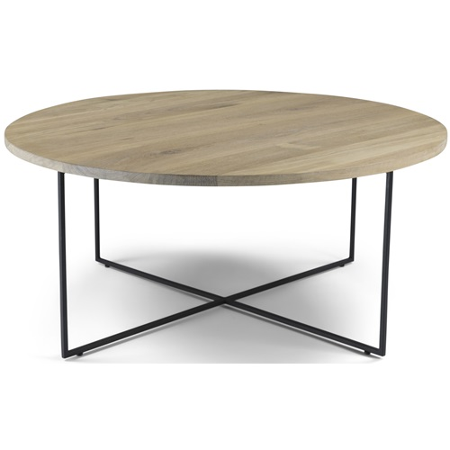 Spinder Design Dress 79 Coffee Table 79x79x33.5 - Oak/Black