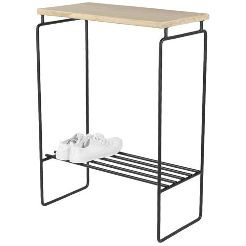 Spinder Design Clint Side Table 57x29.5x78.5 - Oak/Black