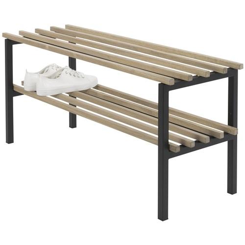 Spinder Design Rizzoli Bench Shoe Rack 100x34x45 - Oak/Black