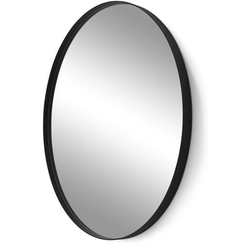 Spinder Design Donna Oval Spiegel 60x80 - Schwarz