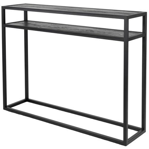 Spinder Design Daniel Beistelltisch 120x30x90 - Schwarz