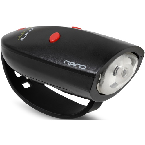 Mini Hornit NANO - Bicycle light with Sound effects - Black/Red