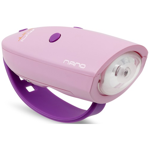 Mini Hornit NANO - Bicycle light with Sound effects - Pink/Purple