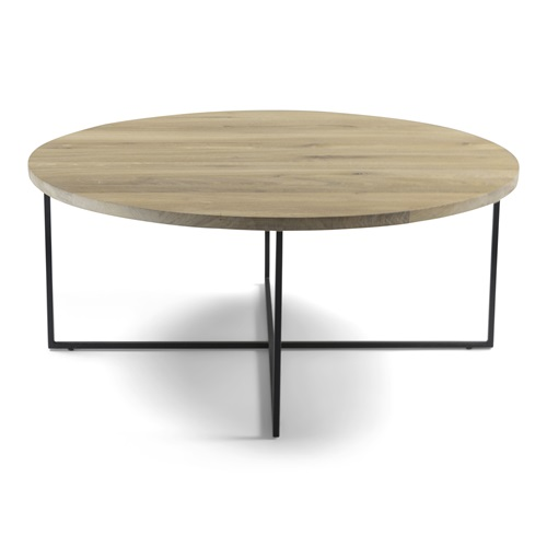 Spinder Design Dress 89 Salontafel 89x89x39 - Eiken/Zwart