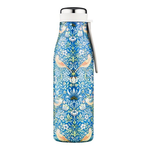 Ecoffee Cup Thief - Hot/Cold Vacuum Bottle - 500 ml - William Morris - Blue
