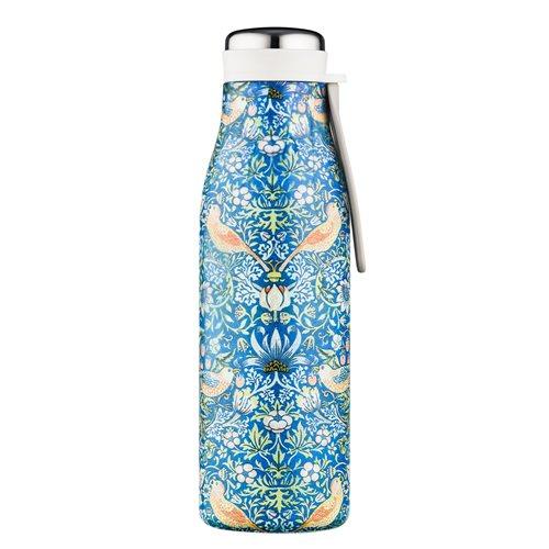 Ecoffee Cup Thief - Warm/Koud Dubbelwandig Thermosfles - 500 ml - William Morris - Blauw