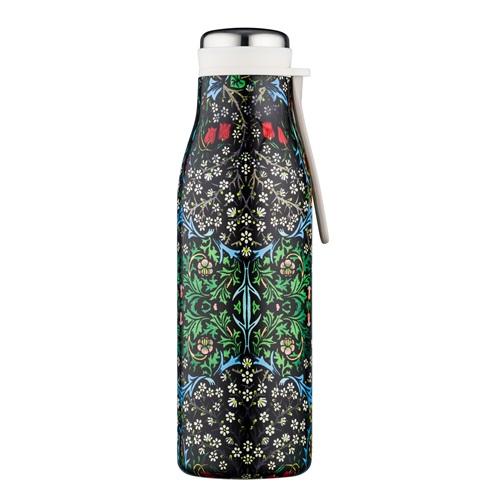 Ecoffee Cup Blackthorn - Warm/Koud Dubbelwandig Thermosfles - 500 ml - William Morris - Zwart