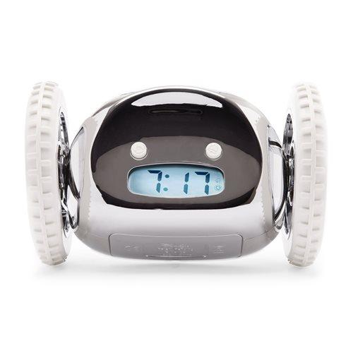 Clocky - Alarm Klok op Wielen - Chroom