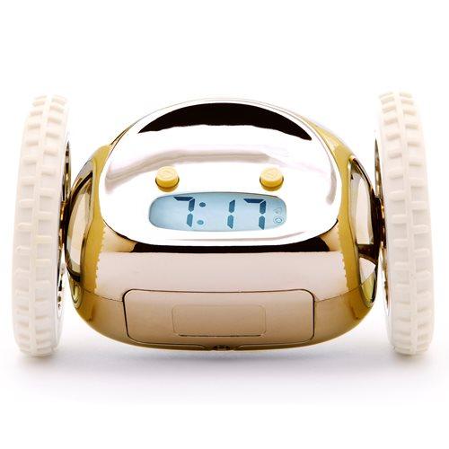 Clocky Alarm Clock on Wheels - Gold