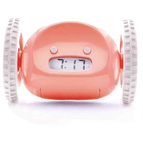 Clocky Alarm Clock on Wheels - Pink